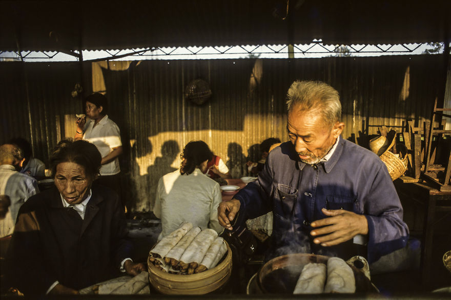 Elderly Couples Selling Fritters, Suzhou, 1984