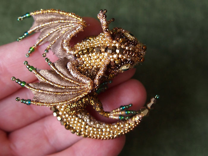 [10 Photos] Bead Dragon Brooches By This Russian Artist Will Make You Want To Tame One