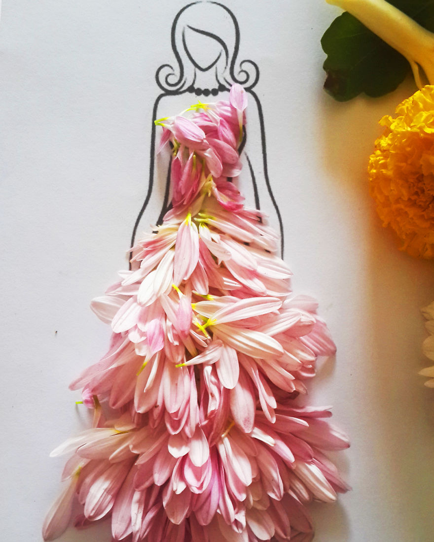 I Create Stunning Couture Gowns And Dresses With Flowers
