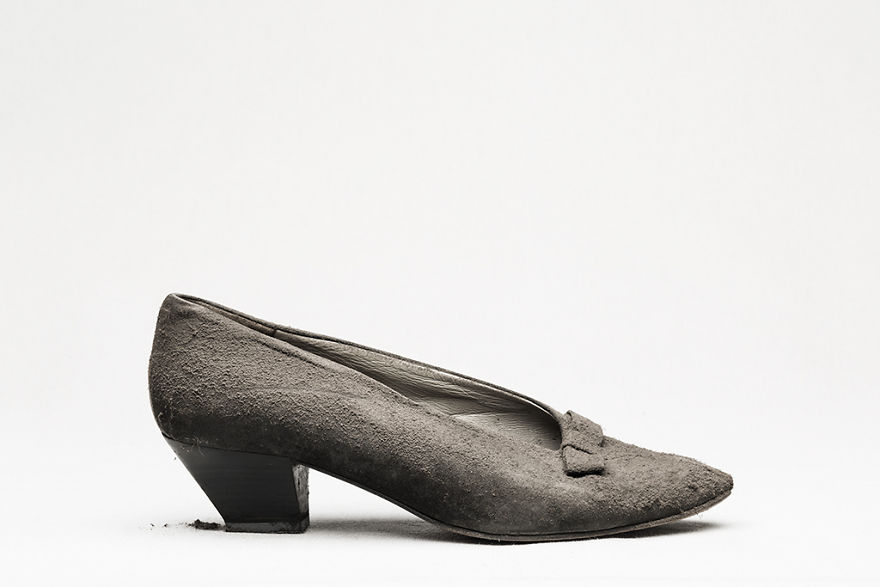 I Photographed Shoes Almost Untouched On A Shelf For 25 Years