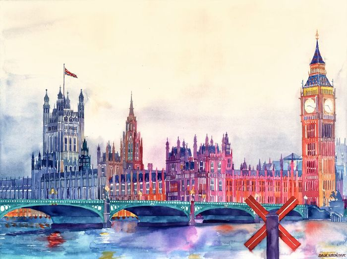 Speed Painting Of Big Ben By Maja Wrońska