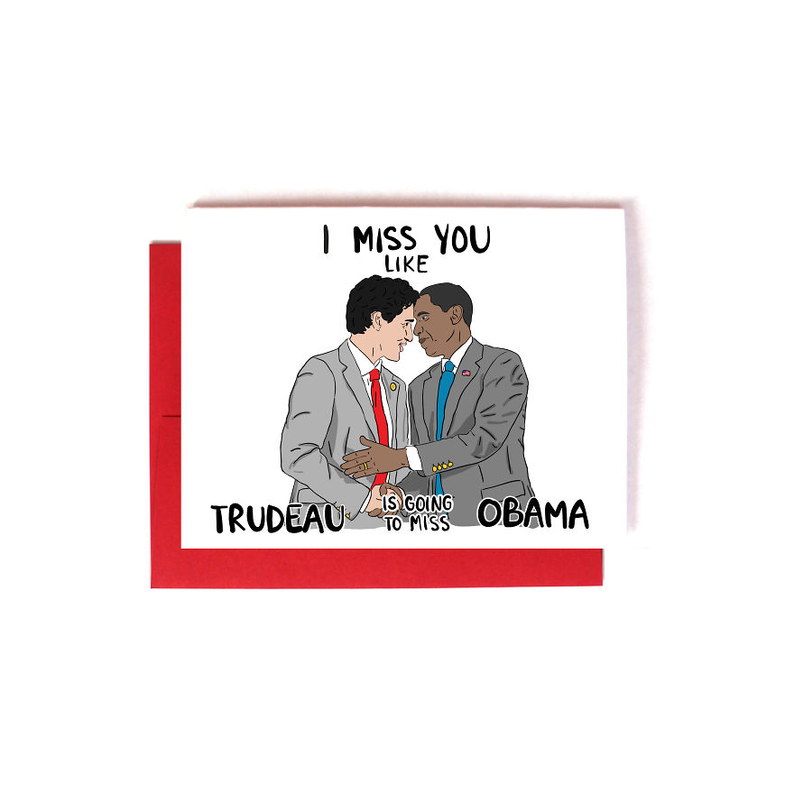 Trudeau & Obama I Miss You Long Distance