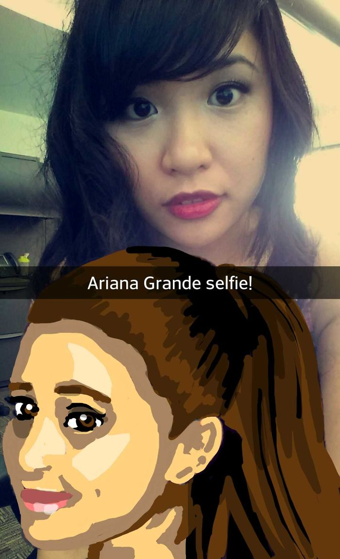 I Take Selfies With Celebrities Using Snapchat Drawing Tools