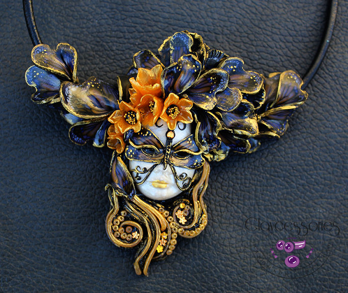 Butterfly Wings Mask Necklace