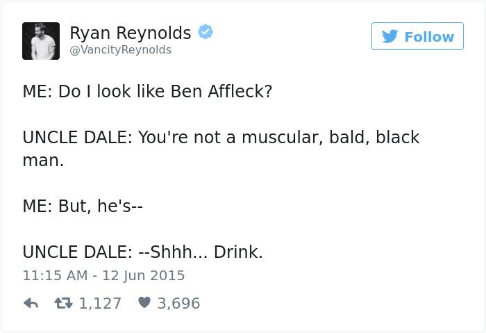 Funny Ryan Reynolds Tweets