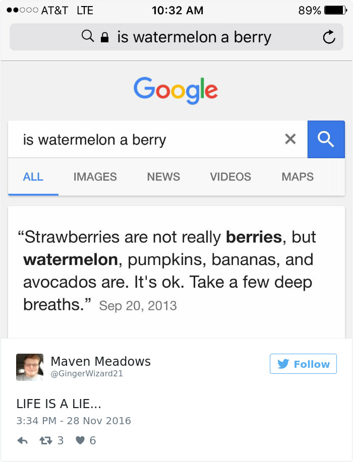 Watermelons Are Berries? And Strawberries Not?