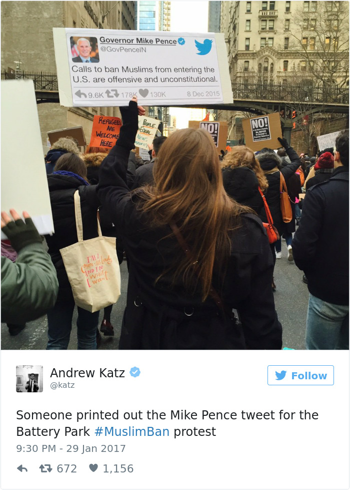 20+ Of The Best Signs From Muslim Ban Protests