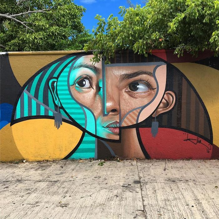 Spanish Artist Creates Picasso-Inspired Murals Combining Cubism With Realism