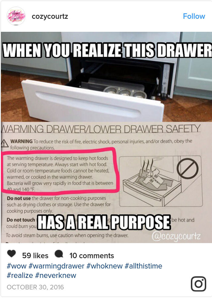 That Drawer Is Actually Not For Muffin Trays