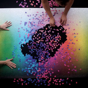 This Puzzle Has All Colors In CMYK Spectrum