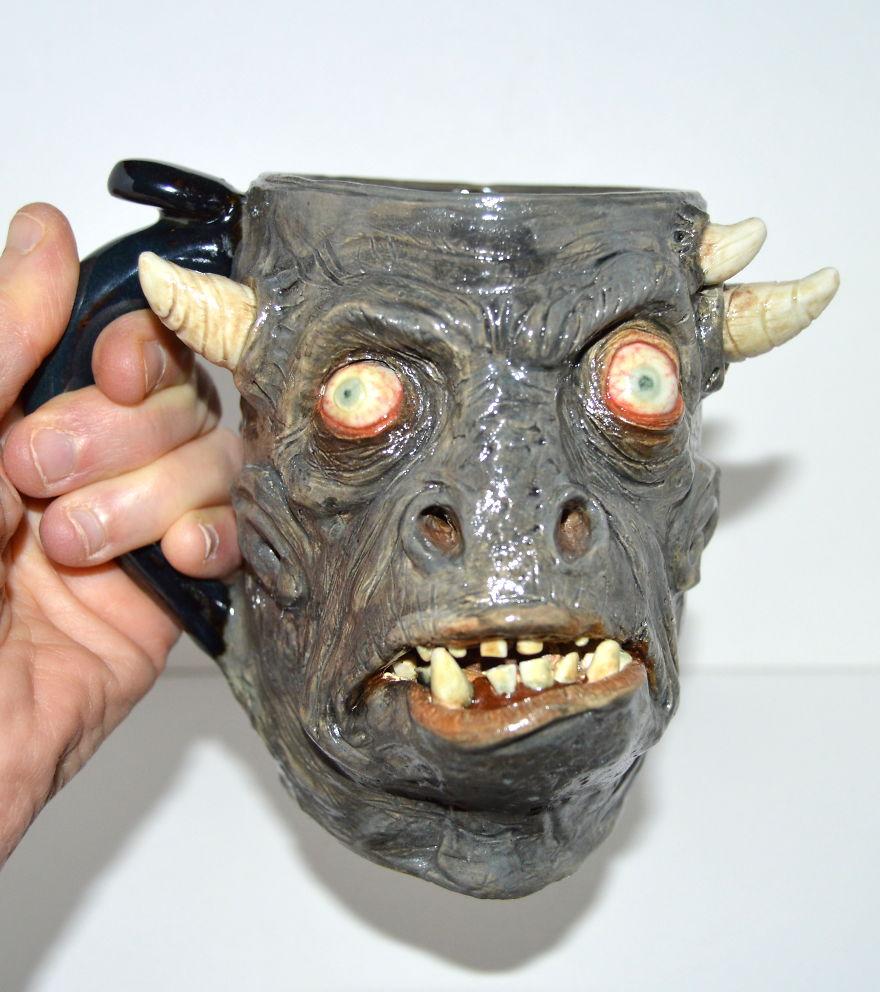 Horned Beast Mug