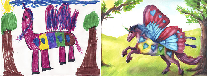 Custom Kid Art Transforms A Child's Drawing Into Pure Magic
