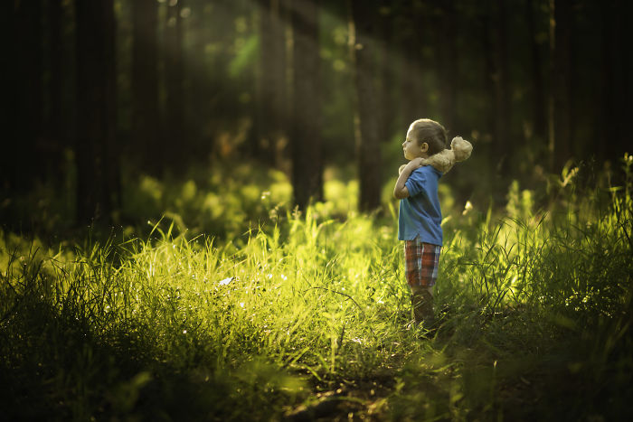 """My 3 Year Old And I Found A Magical Location That We Dubbed """"The Forest Of Imaginations"""""""