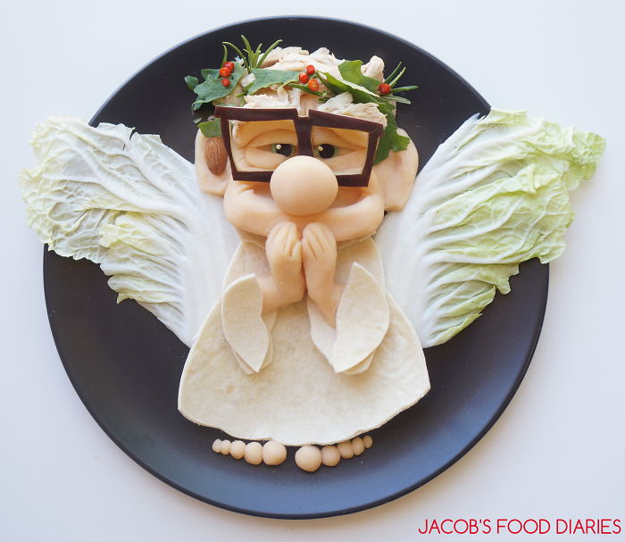 Carl From Up As A Christmas An Angel