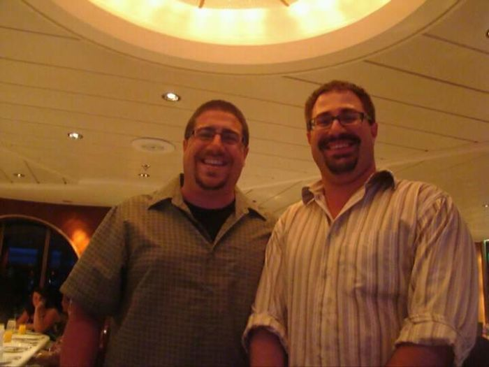 I (im The Shorter One) Met My Canadian Doppelganger On A Cruise Ship With My Wife On Our Honeymoon!