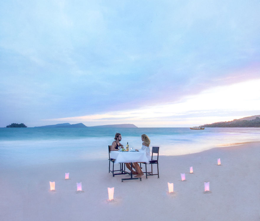 Dinner Date Night On The Beach, Koh Rong, Cambodia