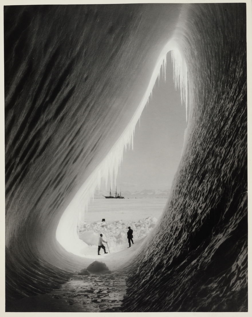 A Grotto In An Iceberg