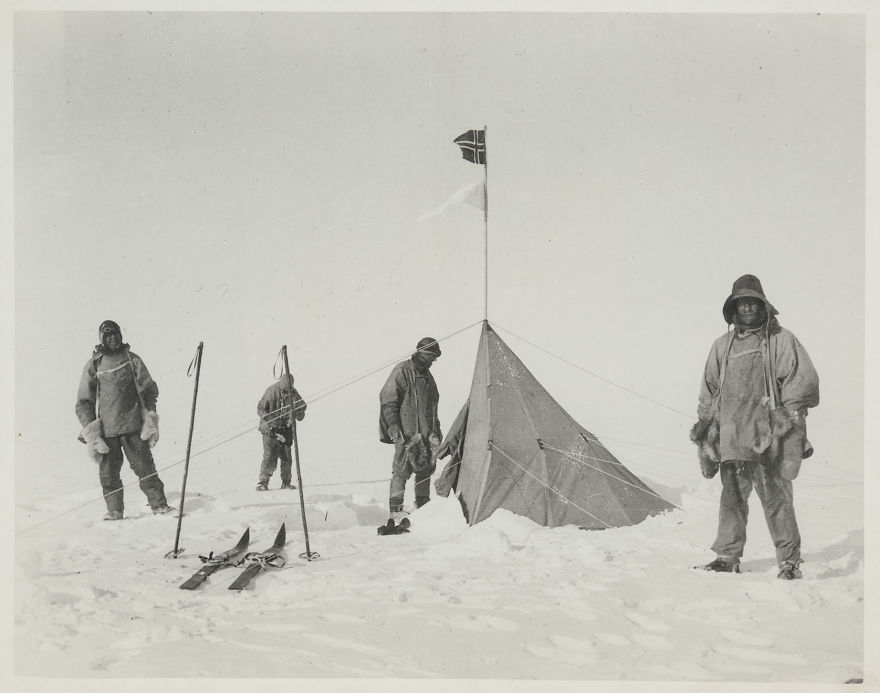 Amundsen's Tent At The South Pole