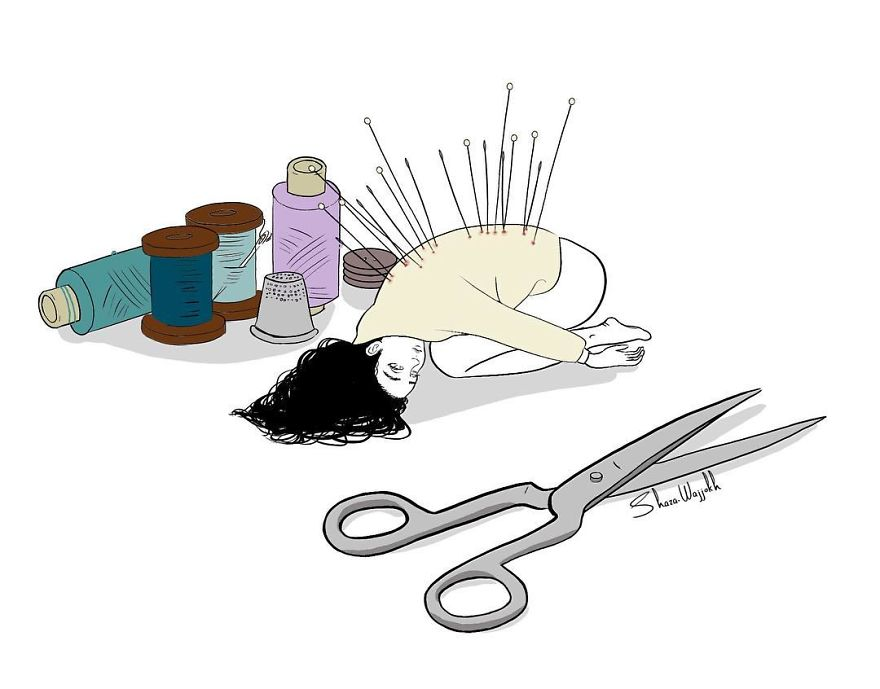 I Illustrate Woman's Inner World
