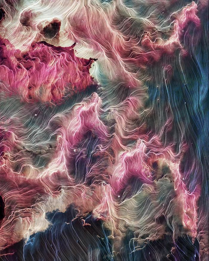 I Create Colorful Abstract Images That Look Like Celestial Dreams