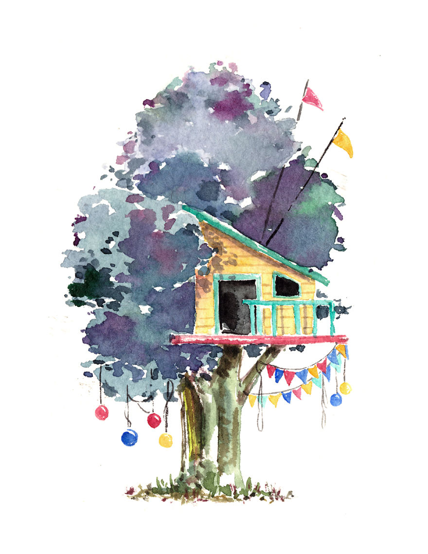 How To Paint Houses In Watercolour