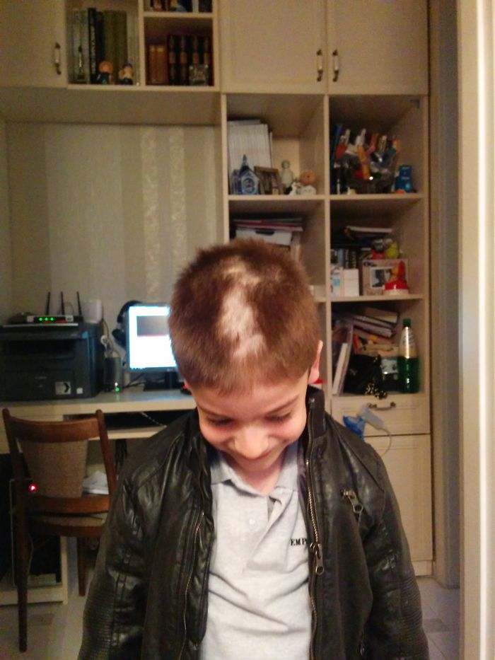 He Just Wanted To Cut 'that', A Bit Taller Hair There And Then, The Miracle Happened.. ))))