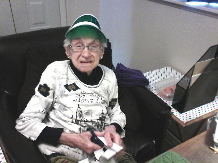This Grandma Ready To Play Poker!
