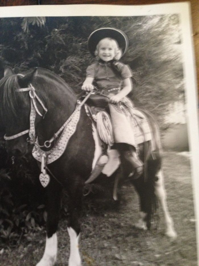 Having My Picture Taken By A Traveling Photographe With A Horse 1965