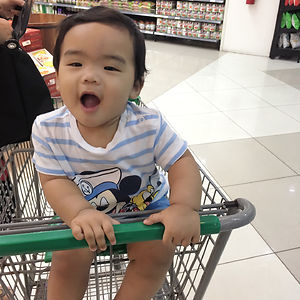 First Grocery Cart Ride