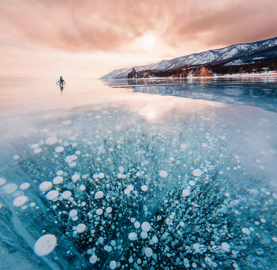 Fairy lake Baikal in Siberia