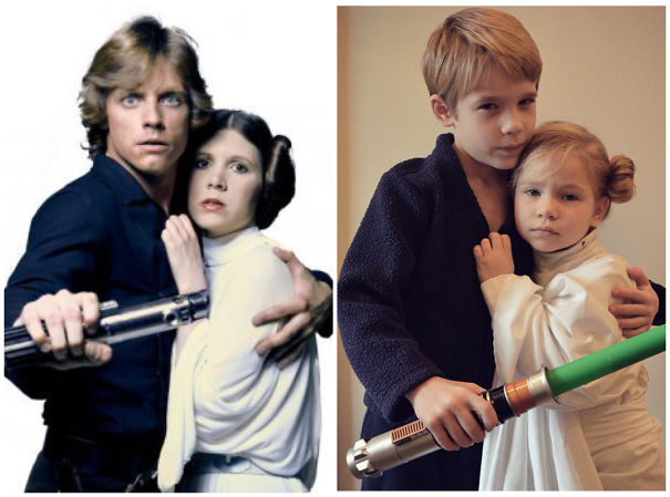 The Copy Kids On Instagram Dressed As Luke And Leia.