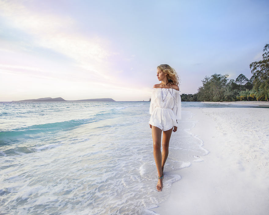 Koh Rong, Cambodia. Life In The Island I Can Describe In Many Sunrises, Sunsets, Pastel Colours And Worry-free Life