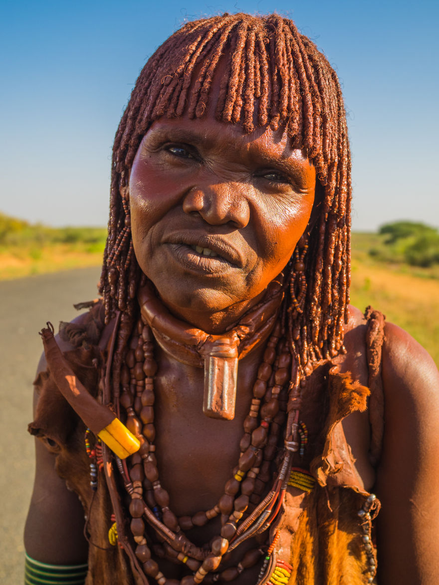 Woman From The Hamar Tribe