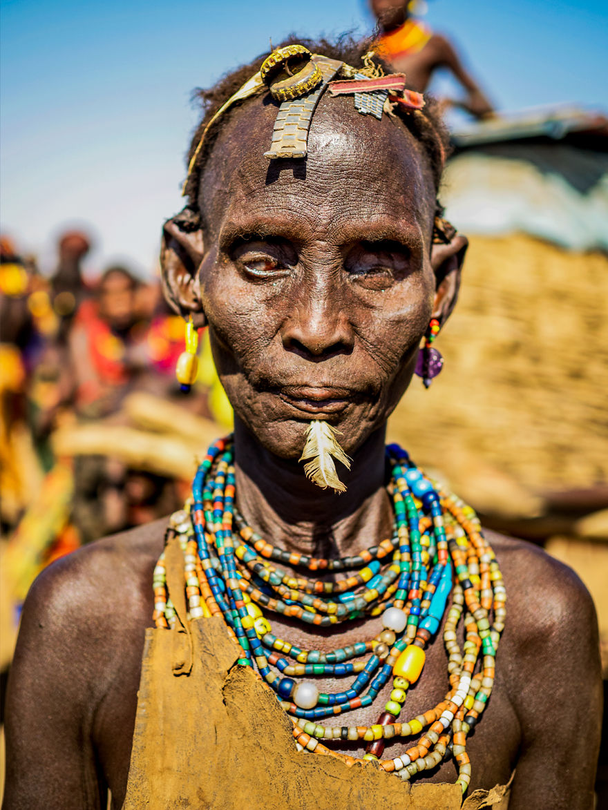 Blind Woman From The Dassanech Tribe