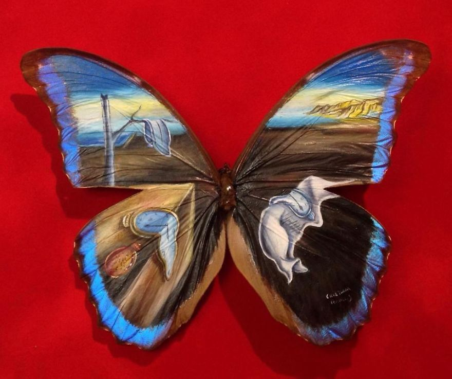 ===En Alas de mariposa=== Paintings-on-Real-butterflies-wings-587bef681d1d3__880