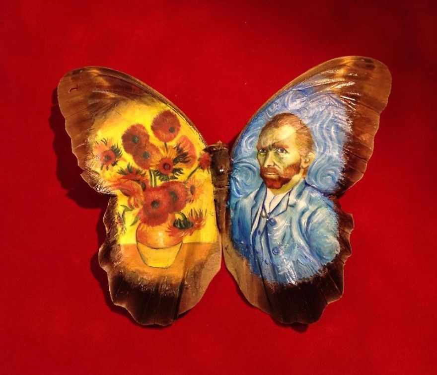 ===En Alas de mariposa=== Paintings-on-Real-butterflies-wings-587bef699ebb1__880