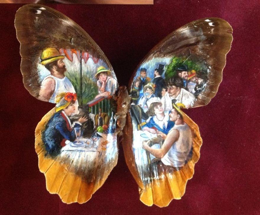 ===En Alas de mariposa=== Paintings-on-Real-butterflies-wings-587bf05d7920f__880