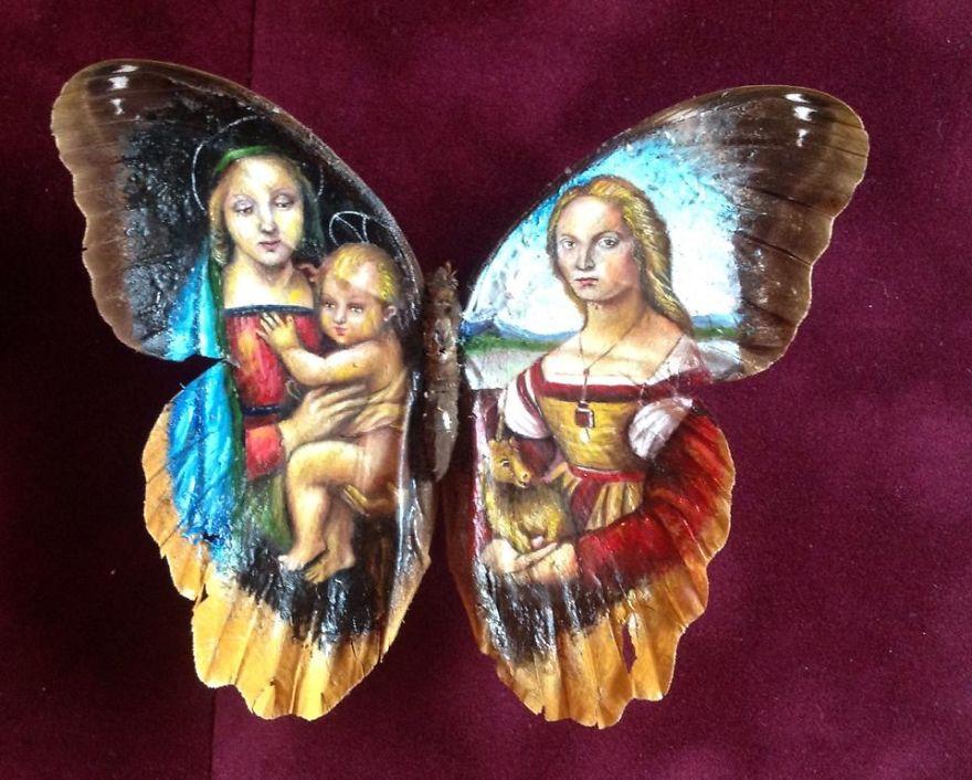 ===En Alas de mariposa=== Paintings-on-Real-butterflies-wings-587bf05f3f209__880