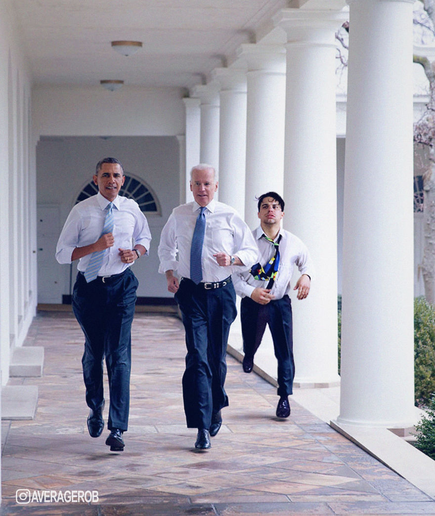 Running Around The White House