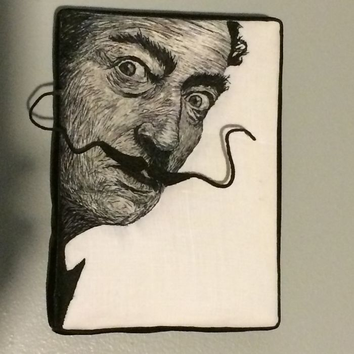 I Embroidered Salvador Dali With A Dimensional Moustache