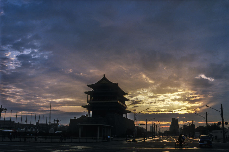 An Evening At Zhengyang Men, Beijing, 1985