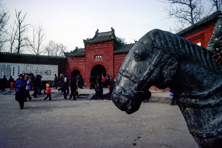 While Horse Temple, Luoyang, 1984