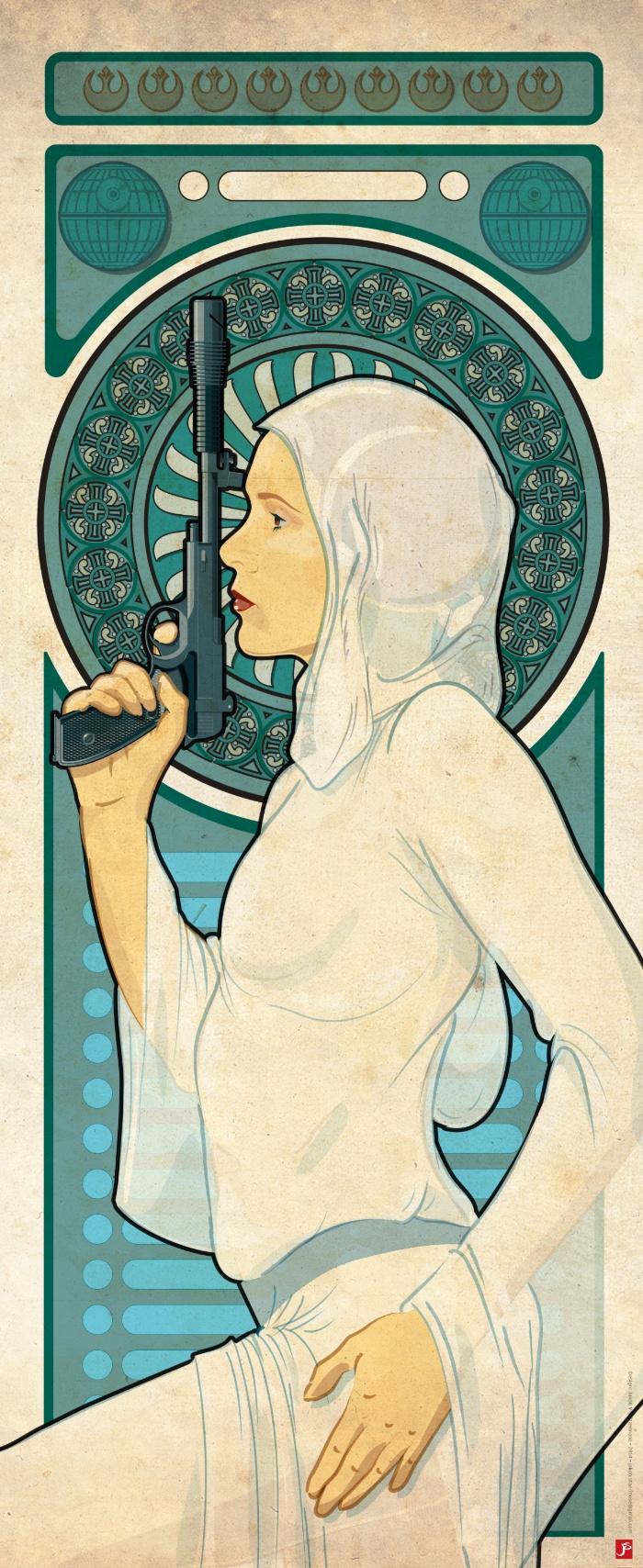 Princess Leia Art Nouveau By Starmose