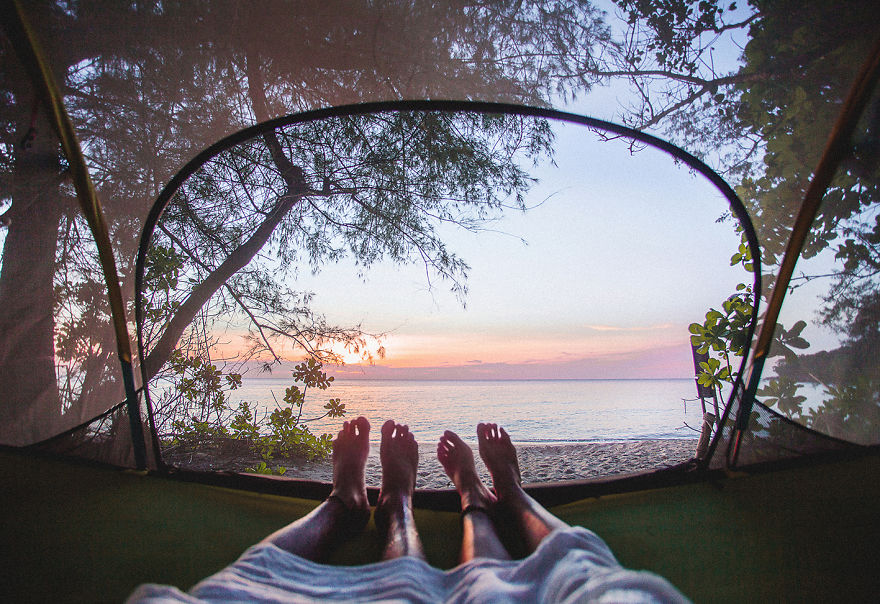Koh Rong Samloem, Cambodia. Definitely The Best Camping Memories. Waking Up With This View Is Unforgettable