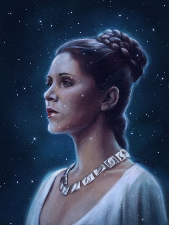 Beautiful Princess Leia Tribute Art For Carrie Fisher Fans