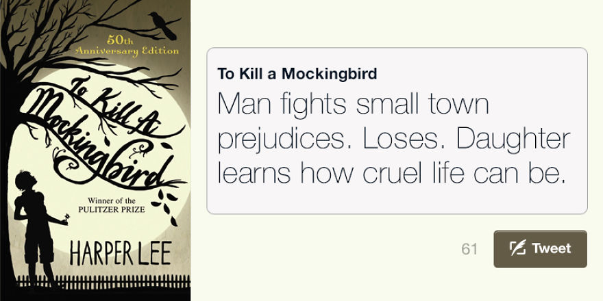 America's Best Novels In 140 Characters Or Less