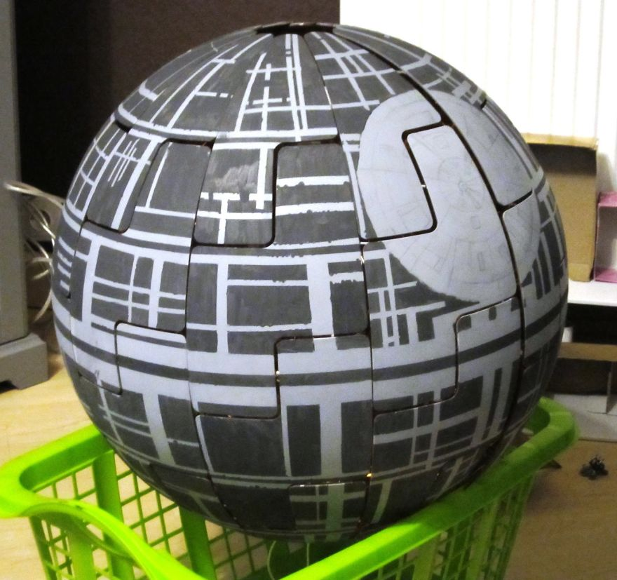 I Turned Ikea Lamp Into A Death Star Bored Panda