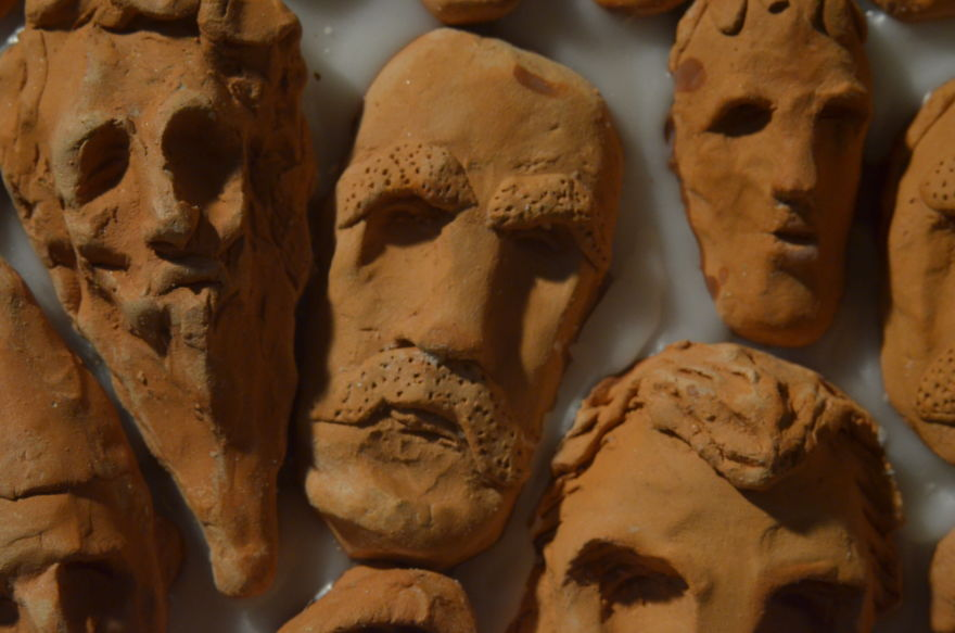 Milica Krstic |Wooden Circles Clay Tiny Faces