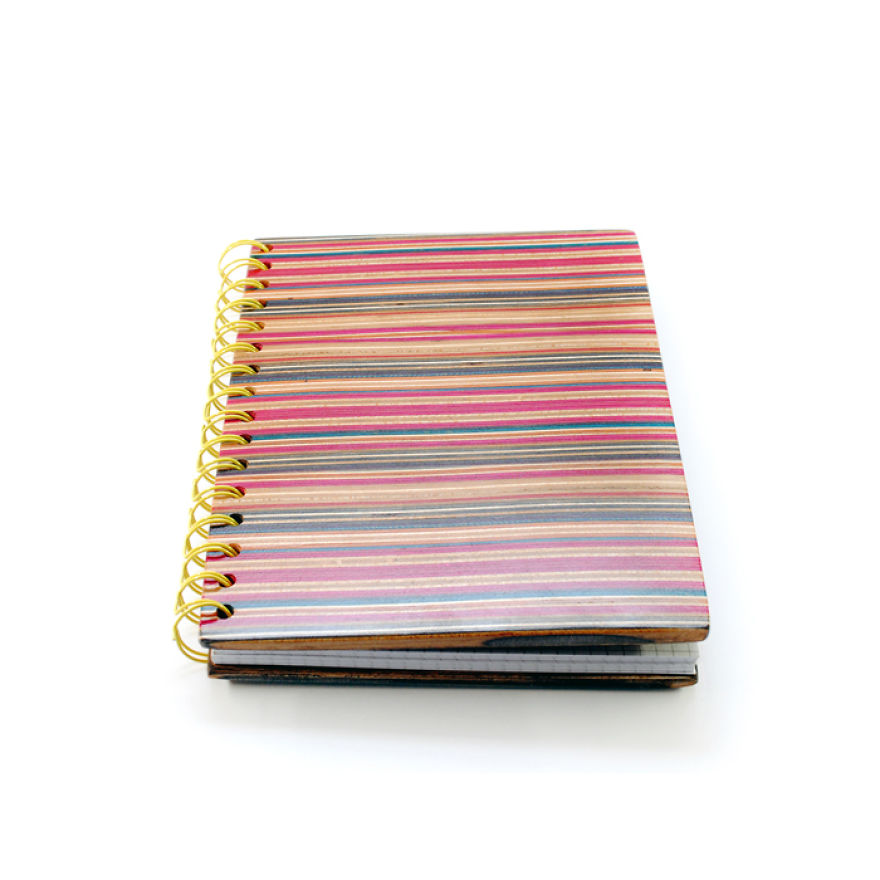 Notebook Cover Out Of Recycled Skateboards