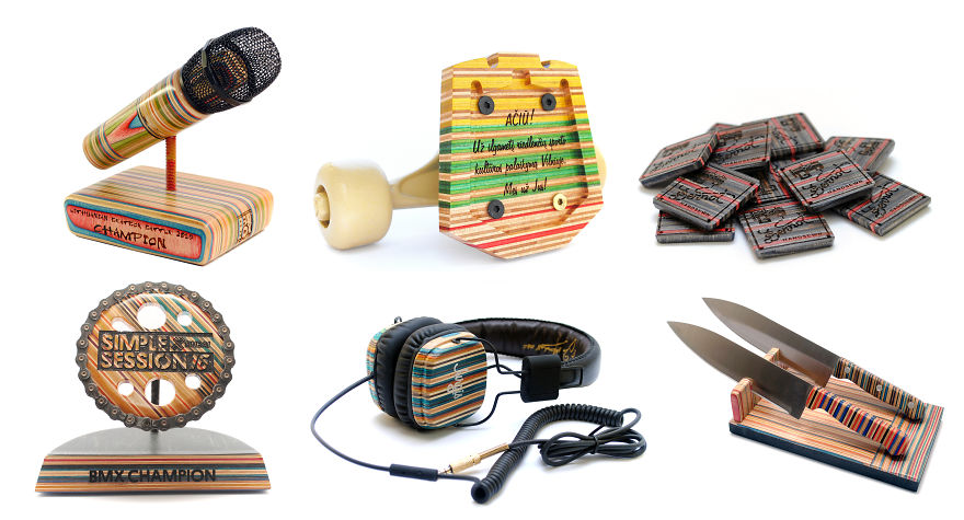 Unique Pieces Out Of Recycled Skateboards
